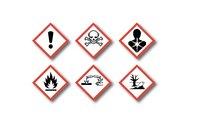 waarschuwing symbolen op etherische olie flesjes