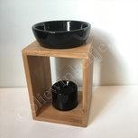 Olieverdamper hout abstract zwart ca 17cm