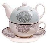 Tea for One mandala motief grijs