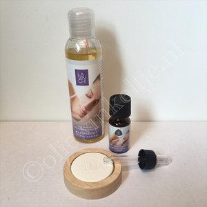 Kado tip Lavinchi relax massageolie en etherische olie verwenpakket