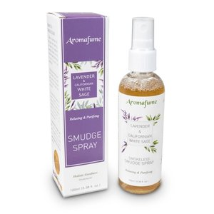 aroma smudge spray witte salie en lavendel